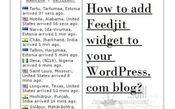 Live Traffic Feed: How to add Feedjit widget to your WordPress.com blog?