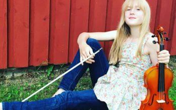 ESTONIAN-born 11-year-old violinist Estella Elisheva captivates world music classics