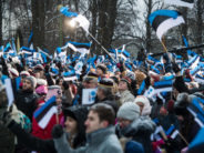 BIG GALLERY! Republic of Estonia 100. Flag hoisting ceremony on February 24, 2018