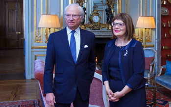Sweden: The King holds an audience with the President of the National Assembly of Serbia