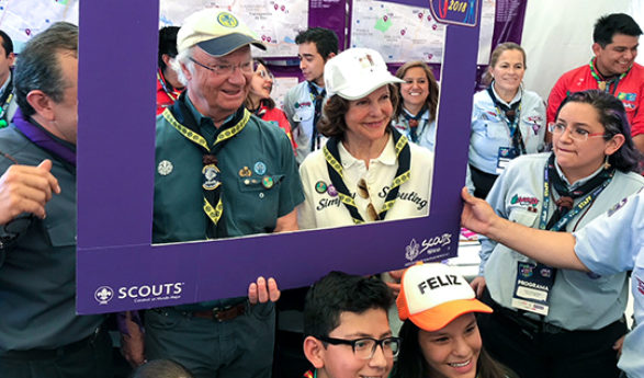 The King and Queen attend the 71st Baden-Powell Fellowship Event in Mexico