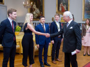 Sweden: The King presents the Young Leadership Foundation's Compass Rose Scholarships to young leaders
