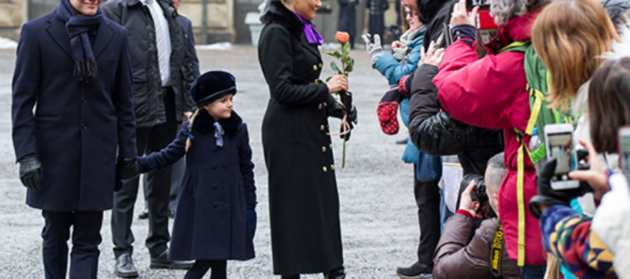 Sweden: The Crown Princess' name day is celebrated in the Inner Courtyard