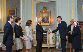 Sweden: The King and Queen and The Crown Princess Couple host a diplomatic reception