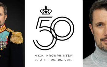 Denmark: HRH The Crown Prince Frederik's birthday – The 50th birthday will be celebrated with various events in May