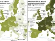 Under current highest-level projections, almost one in three people in Sweden will be Muslim by 2050