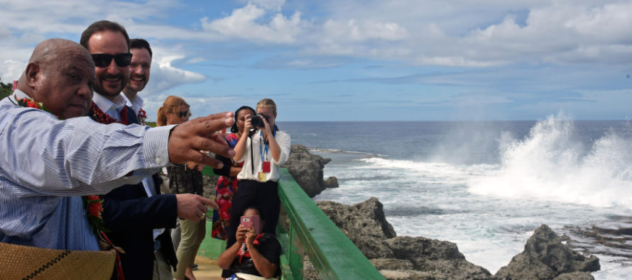 Crown Prince Haakon highlights climate change in Tonga