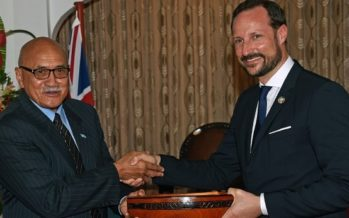 Crown Prince Haakon of Norway begins visit to Fiji