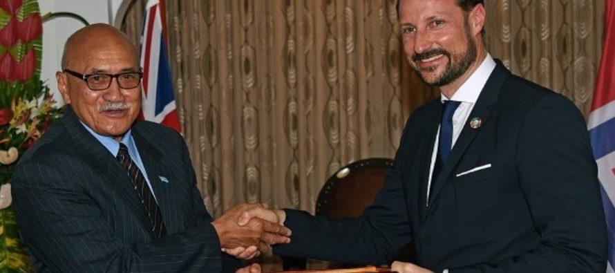 Crown Prince Haakon of Norway begins visit to Fiji