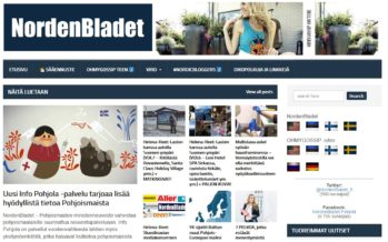Helena-Reet: We have opened NordenBladet.fi and NordenBladet.se!! There is great interest for the NordenBladet pages and every day I am thinking – where from here? what from here?