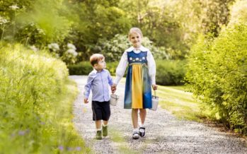 Sweden: Princess Estelle and Prince Oscar of Sweden wish everyone a happy National Day!