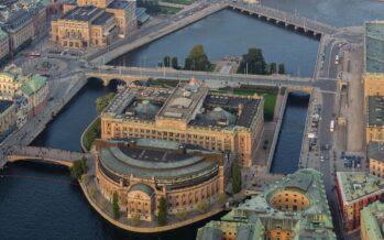 Sweden: Helgeandsholmen island in central Stockholm – home of the Riksdag Building and the Museum of Medieval Stockholm
