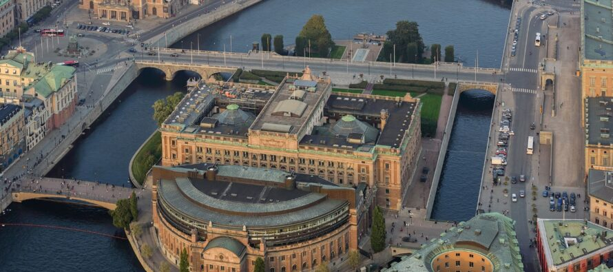Sweden: Helgeandsholmen island in central Stockholm – home of the Riksdag Building and the Museum of Medieval Stockholm