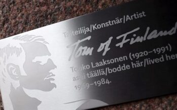 Tom of Finland, aka Touko Laaksonen receives commemorative plaque outside his former home on 100th anniversary of his birth