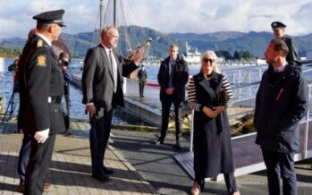 Norway: Norway's Crown Prince and Princess visit Florø and Stavanger