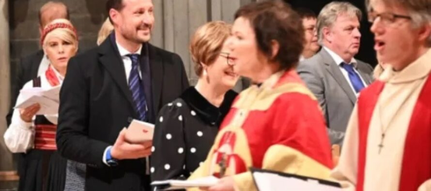 Norway: Crown Prince Haakon attends special service in Nidaros Cathedral