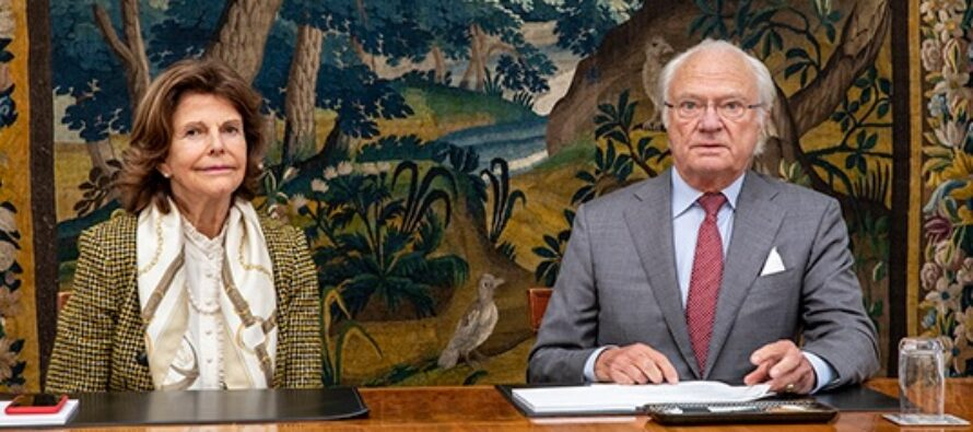 Sweden: The King and Queen and The Crown Princess Couple are given an update about the USA