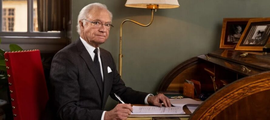 Sweden: King Carl XVI Gustaf celebrates Swedish forests